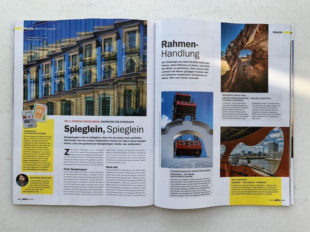 """Aufgaben Beitrag """"Spiegelungen"""" in der aktuellen Ausgabe des DigitalPhoto Magazins"""