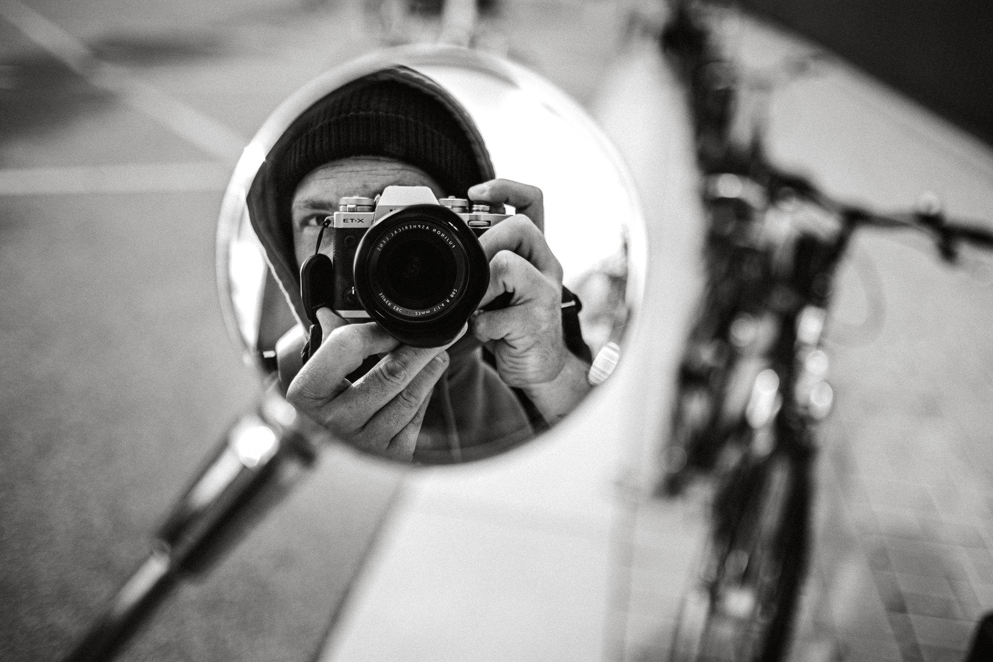 Selbstportrait in einem Spiegel