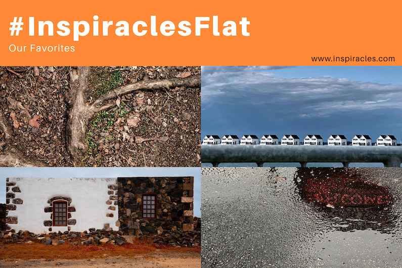 """Our favorite pictures of the May challenge """"Flat"""" – #InspiraclesFlat"""
